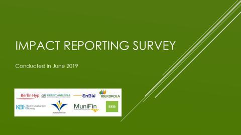 Impact Reporting Survey, June 2019