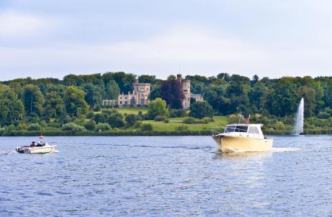 Boote auf dem Tiefen See in Potsdam