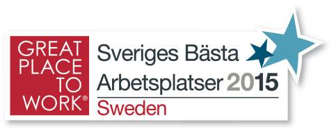 Adecco Sveriges tredje bästa arbetsplats för andra året i rad