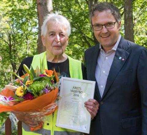 John-Eric Ericsson blev årets väsbybo 2016