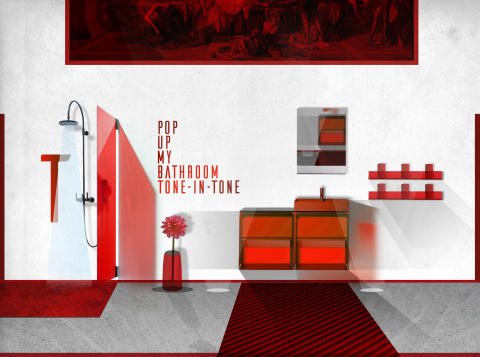 Strong colour, subtle shading: tone-on-tone schemes