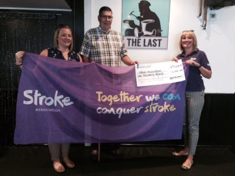 ​Oswestry husband and wife raise £1,000 for the Stroke Association