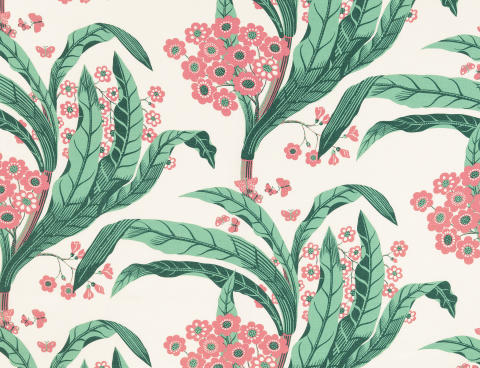 Dehli textile print by Josef Frank