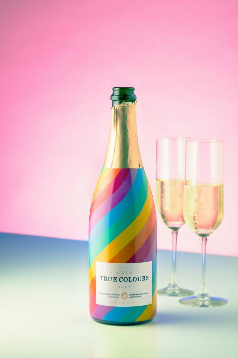 True Colours Cava med glas