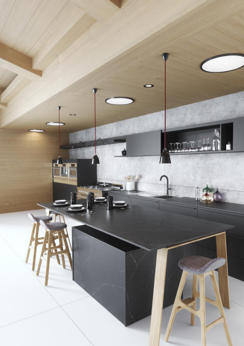 Silestone Kitchen Europea - Eternal Charcoal Soapstone