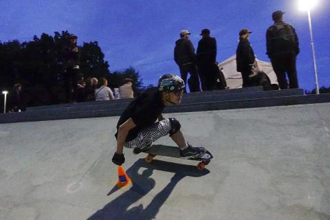 Christopher Dupont Skateboardslalom