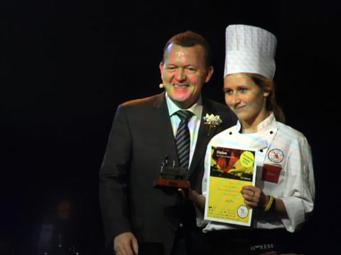 27-årige Kathrine Højgaard Pedersen vinder titlen som landets bedste caterelev til DM i Skills 2016