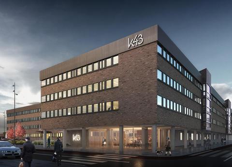 Stenvalvet skapar nya moderna kontorslokaler åt Fortifikationsverket i fastigheten K43 i Eskilstuna