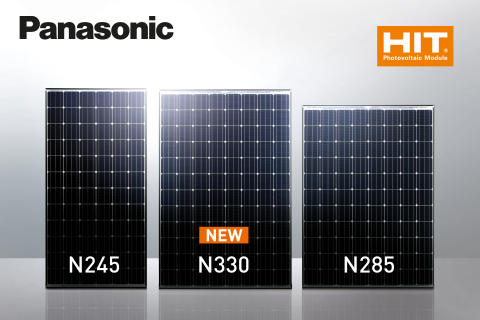 Panasonic debuts high-powered photovoltaic module HIT® N330 for UK and European markets, sets new module efficiency record