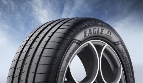 Goodyear Eagle F1 Asymmetric 3 SUV montert på Audi e-tron i San Francisco