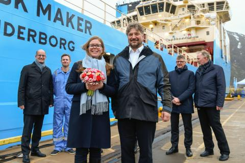 The last of a series of six ships delivered to Maersk from Kleven