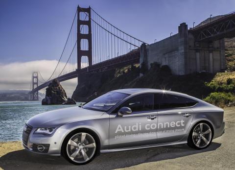 Audi A7 som førerløs testbil i Californien