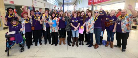 Stroke choir brings sunshine to Stretford shoppers