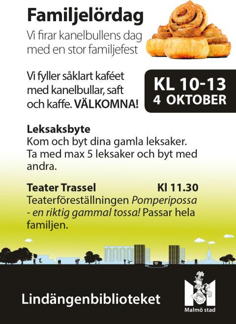 Pomperipossa och kanelbullar på Lindängenbibliotekets familjefest