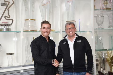 Racerkører Nicolaj Møller Madsen og teamchef Ernst Moser fra Audi Sport Team Phoenix (foto: Nicolaj Møller Madsen)