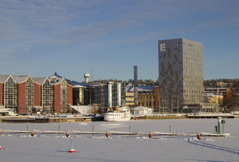 Vinter i Inre hamnen, Örnsköldsvik