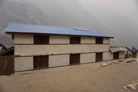 Elevhemmet i Mangri som PMU finansierar. Foto Elisabeth Hammarberg.