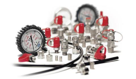 Kontrollera trycket i ditt hydraulik system med testnipplar från CEJN