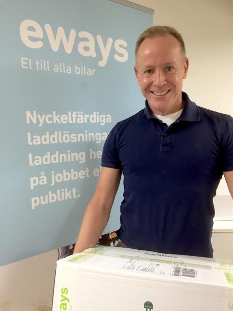 Vår första leverans av laddbox till Finland!
