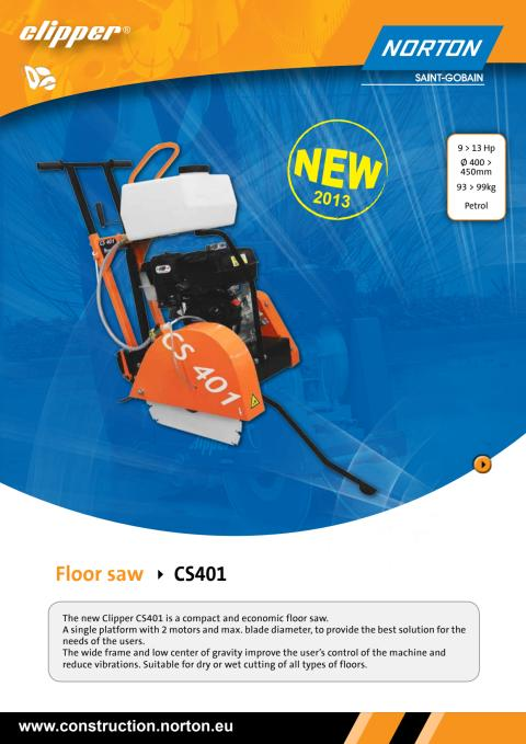 Brochure Clipper CS401 Floor saw