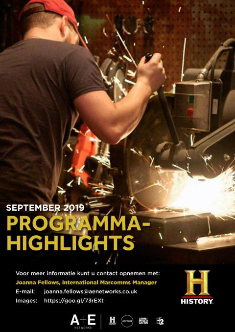 HISTORY Programma- Highlights September 2019