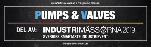 Sverigepremiär för Pumps & Valves på Malmömässan!