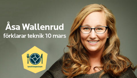 Inbjudan till lunch@expectrum 10 mars: Åsa Wallenrud förklarar teknik