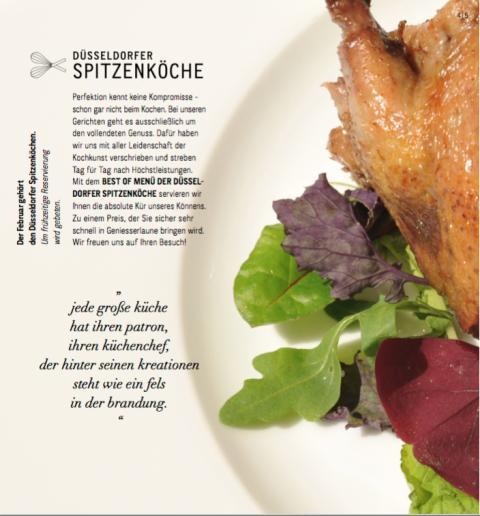 """Halbzeit für Spitzenmenü im Genussmonat Februar:  Düsseldorfer Spitzenköche laden zum zweiten """"Best Of-Menü"""""""