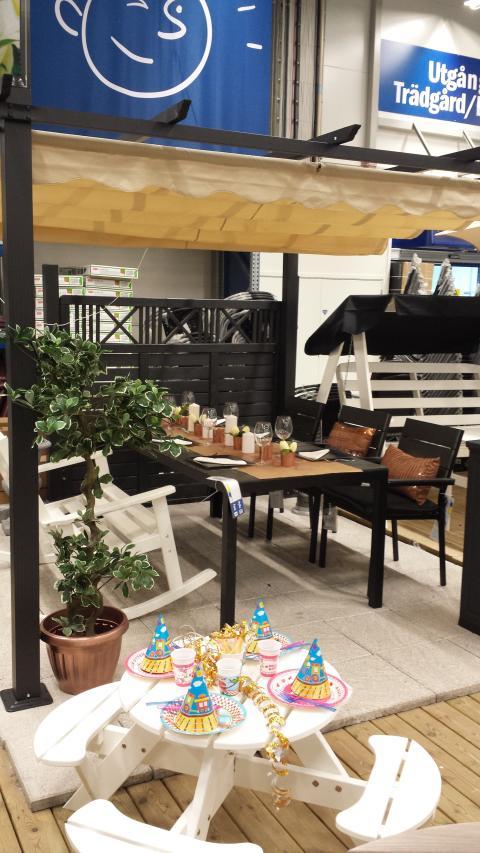 Trädgårds- och utelivsvisning hos K-rauta