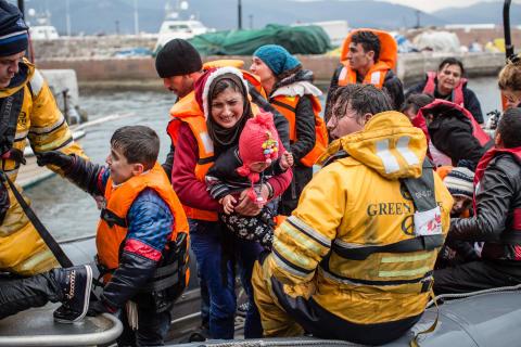 Flicka och 80-årig man drunknade utanför Lesbos