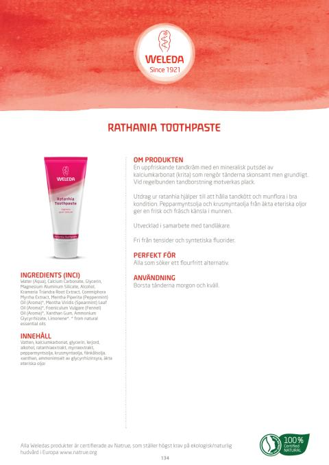 Rathania Toothpaste