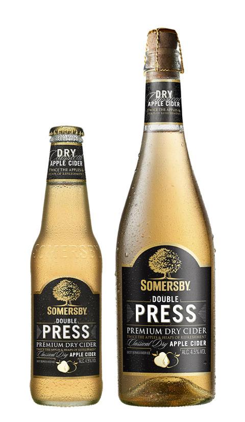 Somersby Double Press lanseras i Sverige: Torr nyhet möter ökad cidertrend