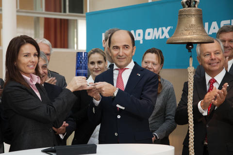 Marie Parck of NASDAQ OMX and Cavotec CEO Ottonel Popesco