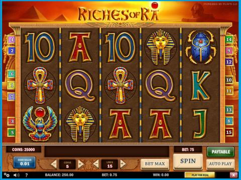 Won €24,734 playing Riches of Ra on the mobile
