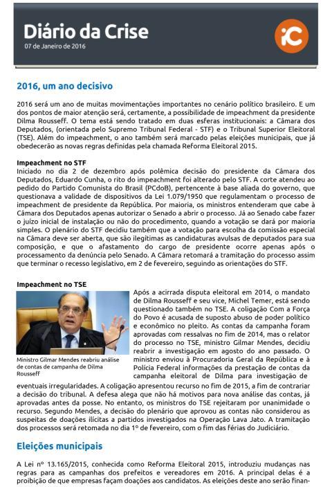 Diário da Crise - 07.01.2016
