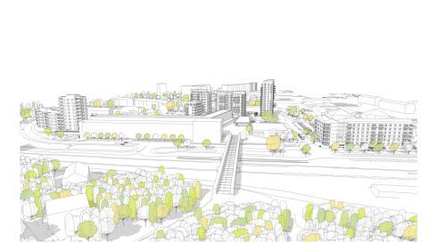 Bostäder och nytt Folkets hus i Kallhälls centrum