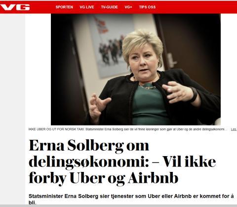 Delings-moten er allerede over, Erna Solberg