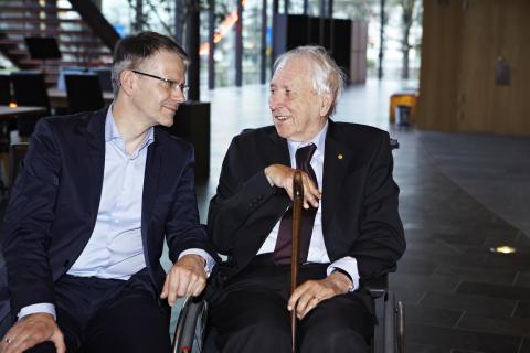 Durs Grünbein och Tomas Tranströmer