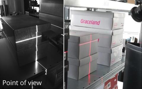 So identifiziert der Roboter TORU Cube die Größe und Lage von Artikeln im Regal.