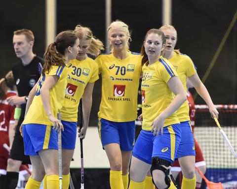 Sverige vann mot Schweiz med 15-0 i U19-VM