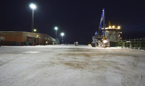 Mastbelysning Piteå Hamn 4