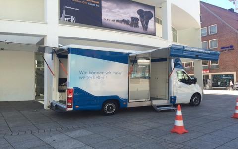 Beratungsmobil der Unabhängigen Patientenberatung kommt am 24. März nach Ulm.
