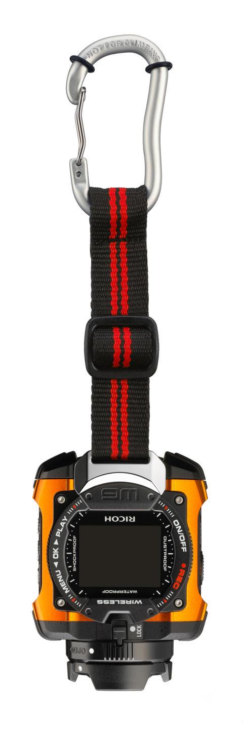 Ricoh WG-1M action-kamera orange med karabinhage/rem