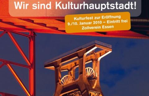 """Come to the Ruhr"" - Kulturhuvudstadsåret RUHR.2010 invigs den 9 januari"