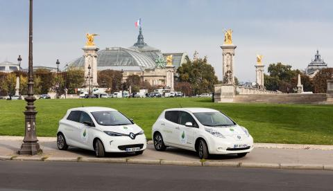 175 000 utsläppsfria kilometer under COP21 tack vare elbilar från Renault och Nissan