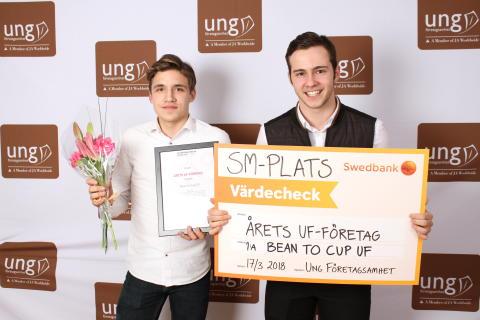 Årets UF företag i Västerbotten är Bean to cup UF