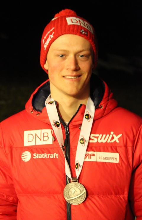 Endre Strømsheim med medalje, sprint ungdom menn, junior-VM