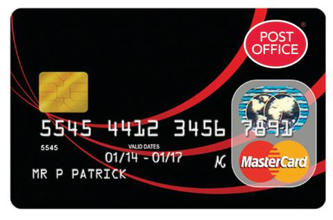 POST OFFICE LAUNCHES NEW MATCHED CREDIT CARD