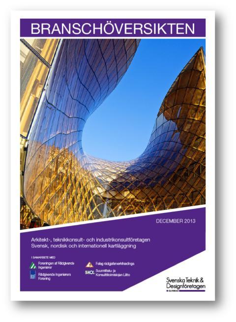 Branschöversikten 2013 - kartläggning av arkitekt- och teknikkonsultbranschen