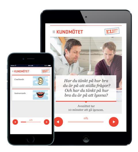 "Elrätts webbutbildning ""Kundmötet"""